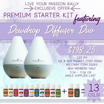 Young Living Dewdrop Duo Diffuser 7/14-7/16 Special